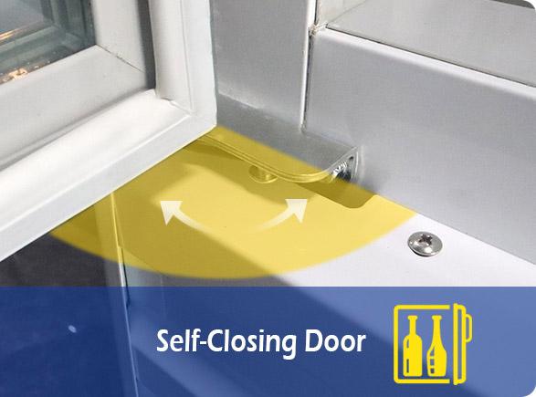 Self-Closing Door   NW-LG268F-300F-350F-430F-660F glass door upright showcase