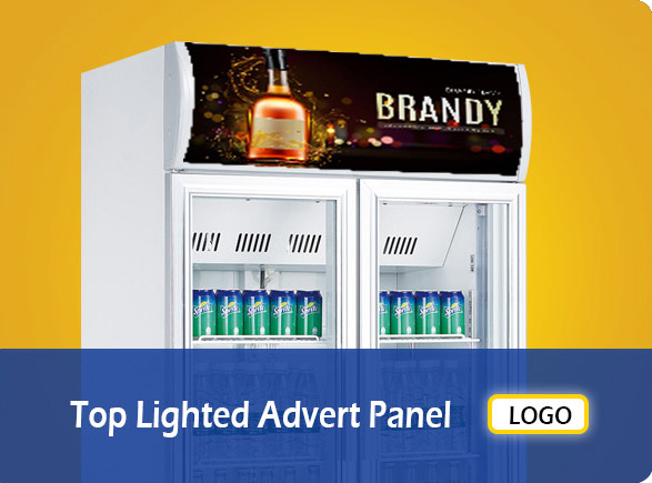 Top Lighted Advert Panel | NW-LG400F-600F-800F-1000F beverage cooler