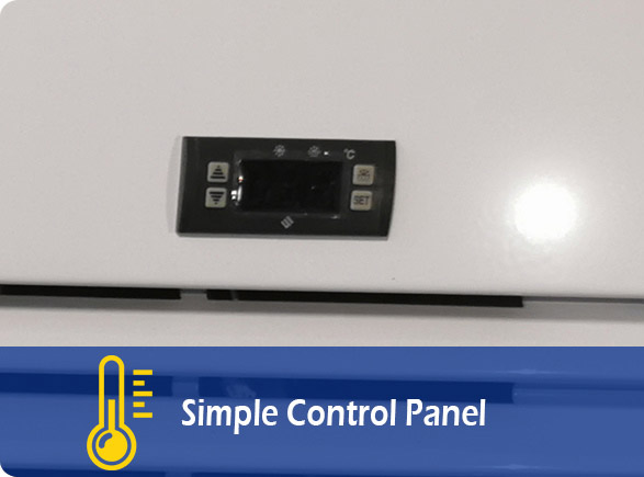 Simple Control Panel | NW-LG400F-600F-800F-1000F upright beverage cooler