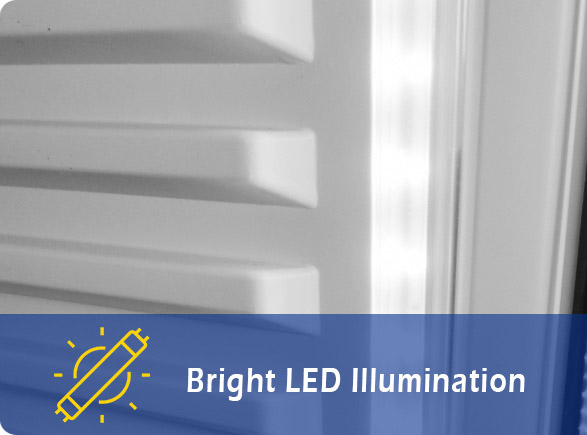 Bright LED Illumination | NW-LG400F-600F-800F-1000F display beverage cooler
