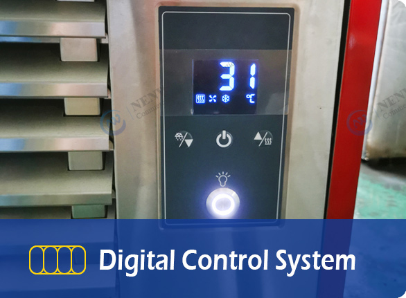 Digital Control System   NW-QD12 commercial ice cream freezer dipping cabinet