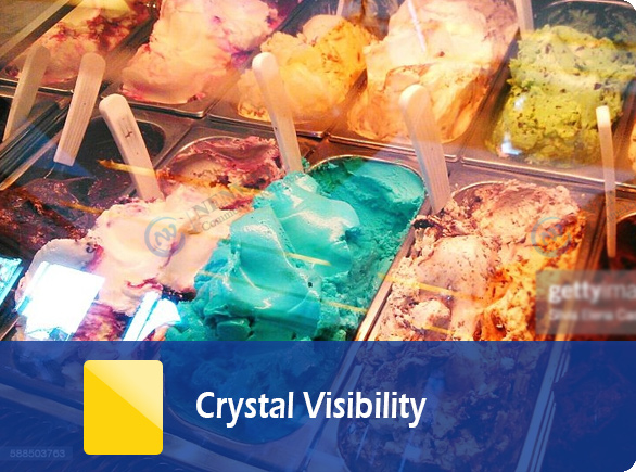 Crystal Visibility   NW-QD12 ice cream cabinet display