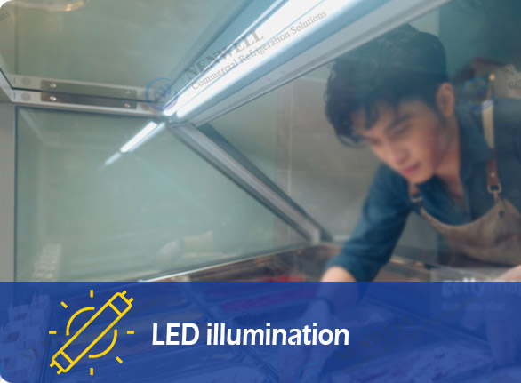 LED illumination   NW-QD12 ice cream dipping freezers