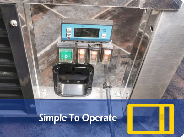 Simple To Operate   NW-TC90-120-150 countertop display cooler