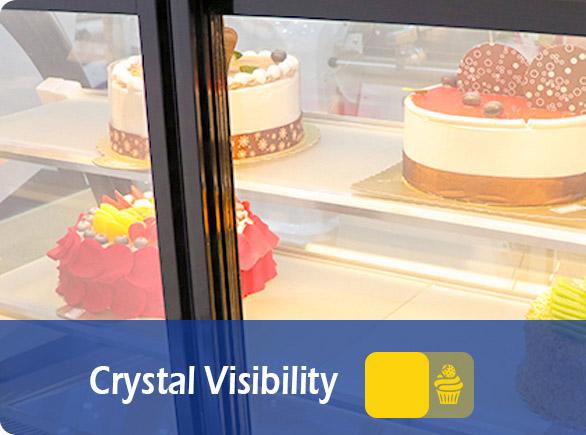 Crystal Visibility   NW-TC90-120-150 cake showcase