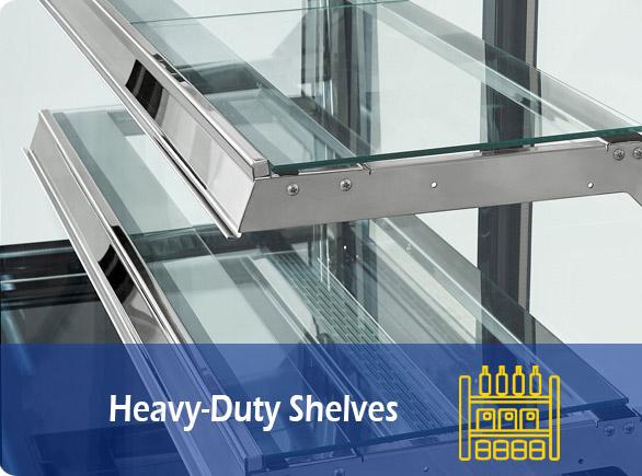 Heavy-Duty Shelves   NW-TC90-120-150 glass cake display cabinet