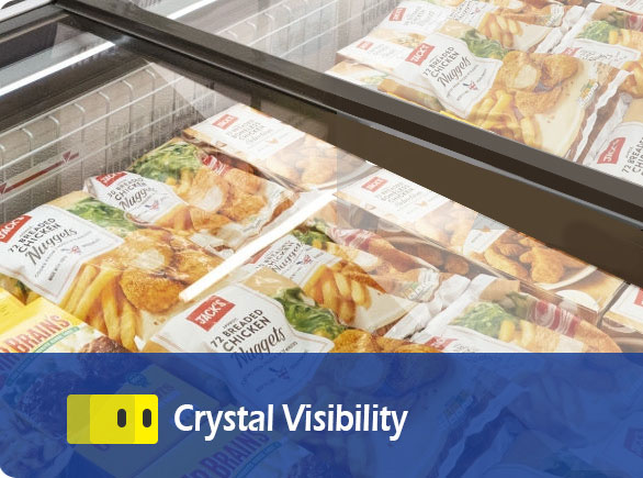 Crystal Visibility | NW-WD2100 grocery store island freezer