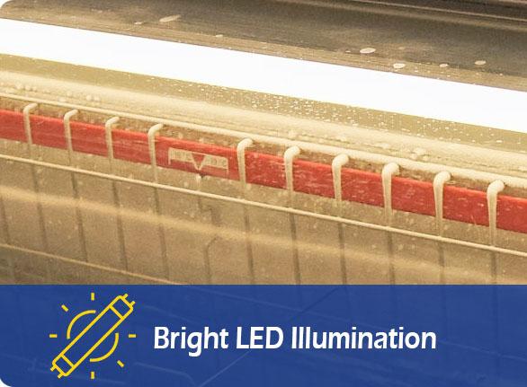 Bright LED Illumination | NW-WD2100 deep freeze freezer